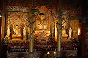 Buddha statues in a temple on Jejudo