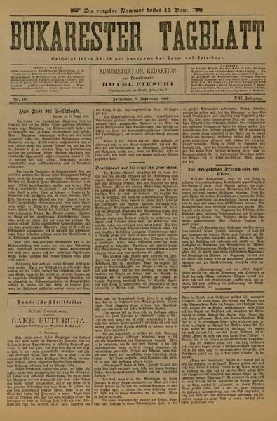 File:Bukarester Tagblatt 1900-09-01, nr. 195.pdf
