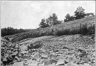 Arabia Mountain - A quarry at Arabia Mountain, c. 1910