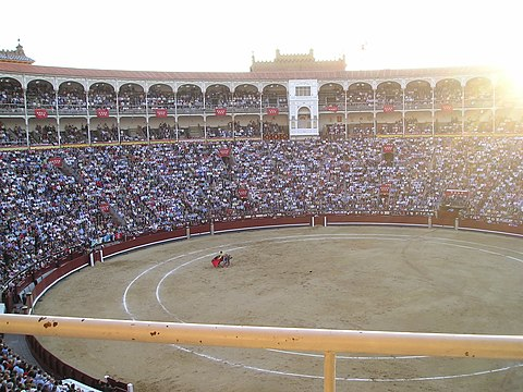 Bullfight in Madrid at Sunset