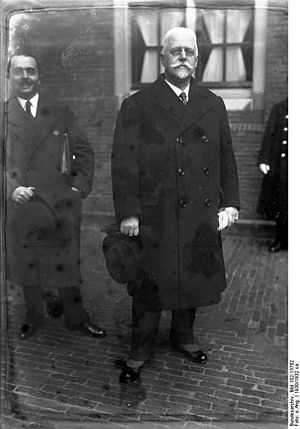 Johann Schober - Chancellor Schober in The Hague, January 1930
