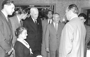Cyrus S. Eaton - Cyrus Eaton in Leipzig, Germany (June 1960)