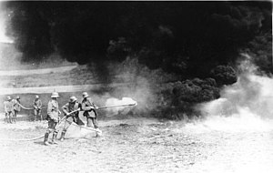 Hooge in World War I - German flamethrowers during the First World War on the Western Front, 1917