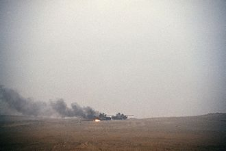 Battle of 73 Easting - Iraqi Type 69 tanks after an attack by the 1st United Kingdom Armoured Division during Operation Desert Storm