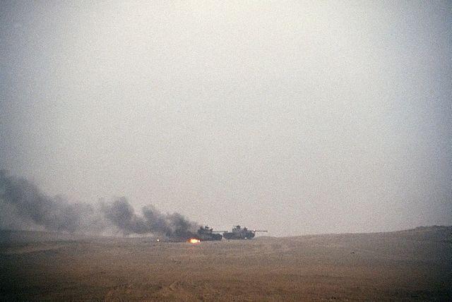 Φλεγόμενα Ιρακινά άρματα Type 69