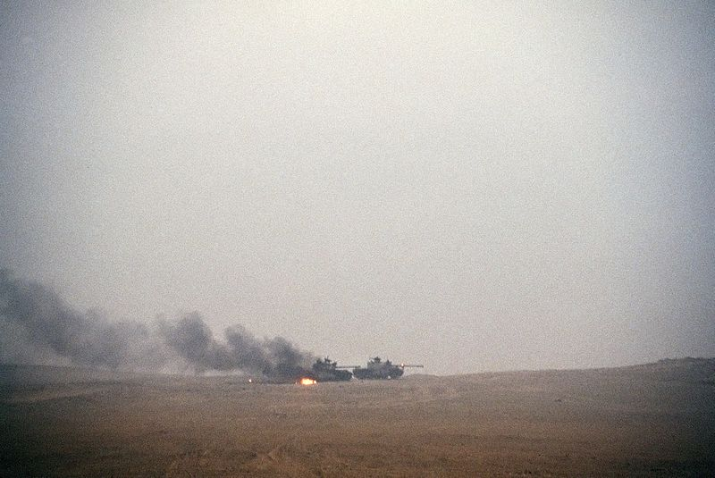 File:Burning Iraqi tanks.JPEG