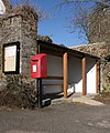 Bus shelter and post box, Zeal Monachorum - geograph.org.uk - 1747647.jpg