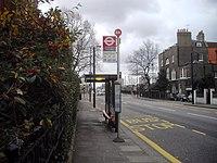 Bus stop in Beaufort Street, Chelsea (geograph 2745752).jpg