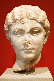 Julia Livilla youngest sister of the Roman Emperor Caligula (c. AD 18-c. 41)