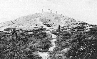 Attacks on the Butte de Warlencourt - Image: Butte de Warlencourt 1916