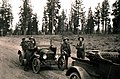 C.1922. L-R Cochran, Rex Black, Audie Wofford, and W.G. Durbin on the way to Crater Lake National Park. (32813863363).jpg