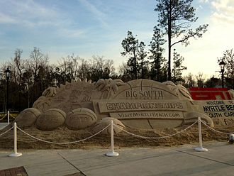 Big South Conference Men's Basketball Tournament - A sand sculpture during the 2015 Big South Conference Men's Basketball Tournament held at Coastal Carolina University