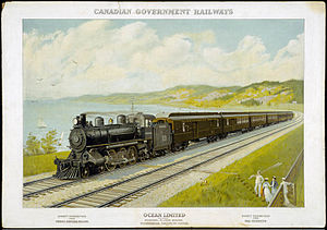 Canadian Government Railways - The Ocean Limited run under the CGR.