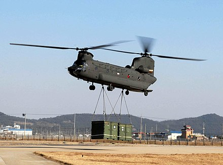 India has ordered 15 heavy-lift Chinook helicopters from the US. Photo shows a US Army Chinook. 080301-F-2207D-394.jpg
