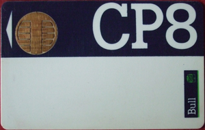 English: CP8 smart card (recto) - first commer...