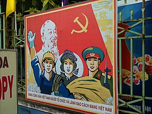 Overview of 21st-century propaganda - Propaganda posters in Vietnam with images of solidarity and Ho Chi Minh
