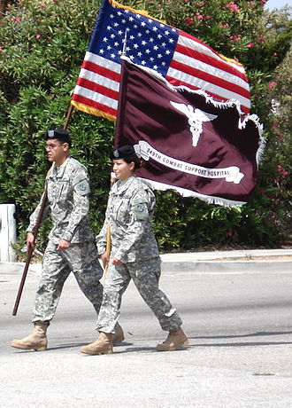 Combat Support Hospital - 349th CSH unit, marching in the Torrance Armed Forces Day Parade.
