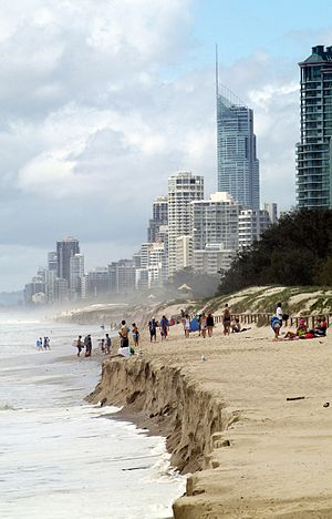 King tide - The erosive effects of a king tide on the Gold Coast, Queensland