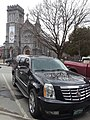Cadillac Escalade State Street downtown Montpelier VT April 2019.jpg