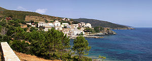 Cagnano - A view of Cagnano and the coastline