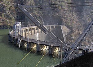 National Register of Historic Places listings in Monroe County, Tennessee - Image: Calderwood dam tn 1