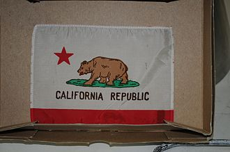 California lunar sample displays - Recovered flag of Apollo 17 goodwill lunar display from museum fire of Feb. 22-23, 1978