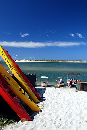 Bribie Island - The northern tip of the island is accessed at Caloundra