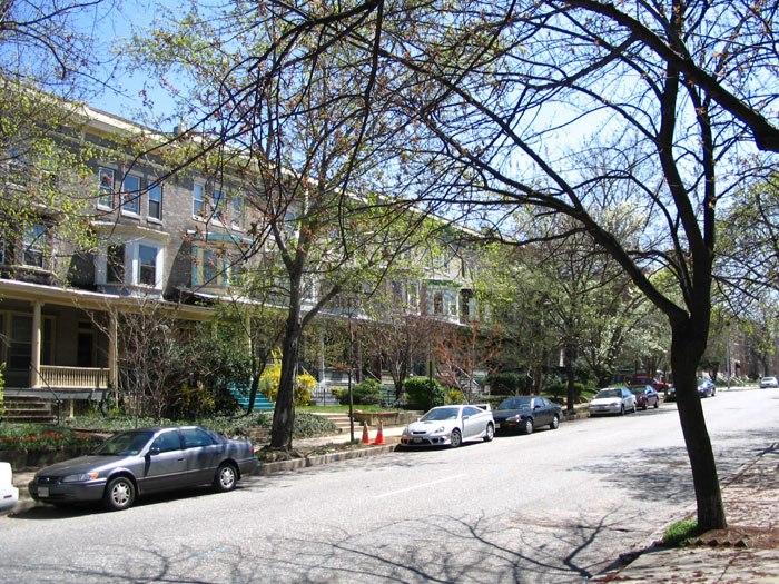 Calvert Street In Charles Village Baltimore