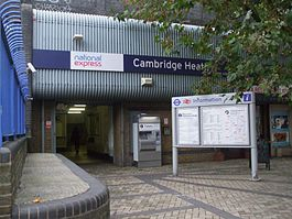 Cambridge Heath stn entrance.JPG