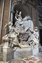 Camillo rusconi, monumento a gregorio XIII, 1723, 01