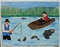 Campsie Mural (Fishing), Campsie, Omagh - geograph.org.uk - 619786.jpg