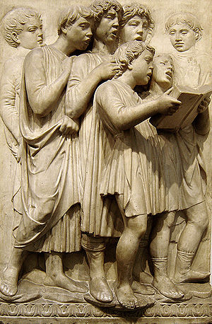 Luca della Robbia - Another panel of the Cantoria