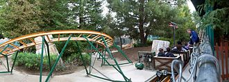 Canyon Blaster (Six Flags Magic Mountain) - A panorama of the Canyon Blaster, photographed in December 2007