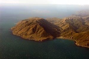 Cape Terawhiti - Cape Terawhiti seen from an aeroplane.