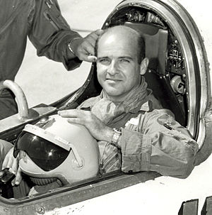 Milburn G. Apt - Captain Mel Apt in the cockpit of  the Bell X-2