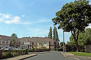 Upton, Merseyside - The care home on Salacre Lane.
