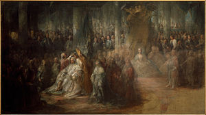 Carl Gustaf Pilo - The Coronation of Gustaf III, in the collection of the National Museum, Stockholm, Sweden