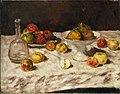 Carl Schuch - Stillleben mit Äpfeln, Birnen und einer Karaffe (1888).jpg