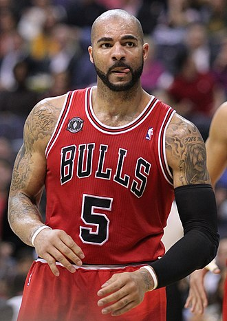 Carlos Boozer - Boozer with the Bulls in February 2011