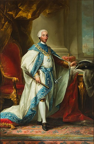 Mariano Salvador Maella - Image: Carlos III con el hábito de su Orden (Palacio Real de Madrid)