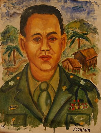 Carlos P. Romulo - Romulo, portrait by Soshana, oil on canvas, 1945