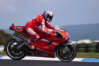 Phillip Island Grand Prix Circuit - Casey Stoner in action at the 2010 Australian motorcycle Grand Prix at the Phillip Island Grand Prix Circuit.