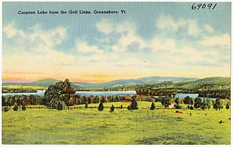 Greensboro, Vermont - Image: Caspian Lake from the golf links, Greensboro, Vt (69091)