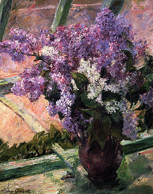 American Impressionism - Image: Cassatt Mary Lilacs in a Window 1880