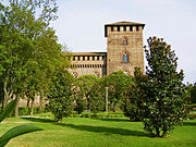 Side view of the Visconti Castle.