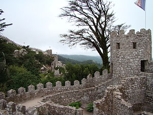 Sintra - The Castle of the Moors, on the hilltops of Sintra