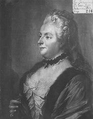 Catharina Charlotta Ribbing af Zernava, 1720-87, g. De Geer af Leufsta