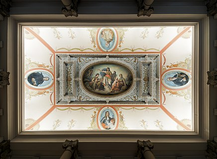 Ceiling of the National Museum of Slovenia