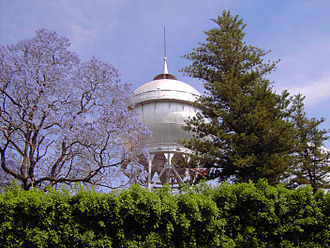 Guanajuato - The bola de agua in Celaya, the watertower is an icon of the city.