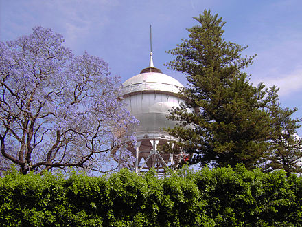 The bola de agua in Celaya, the watertower is an icon of the city. Celaya-bola.jpg